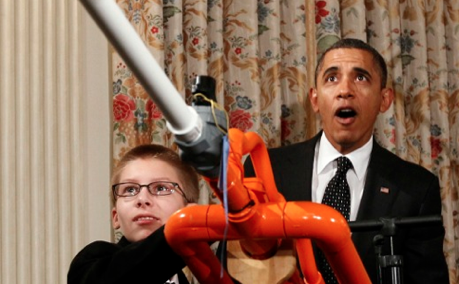 Maison Blanche: le photographe et le président