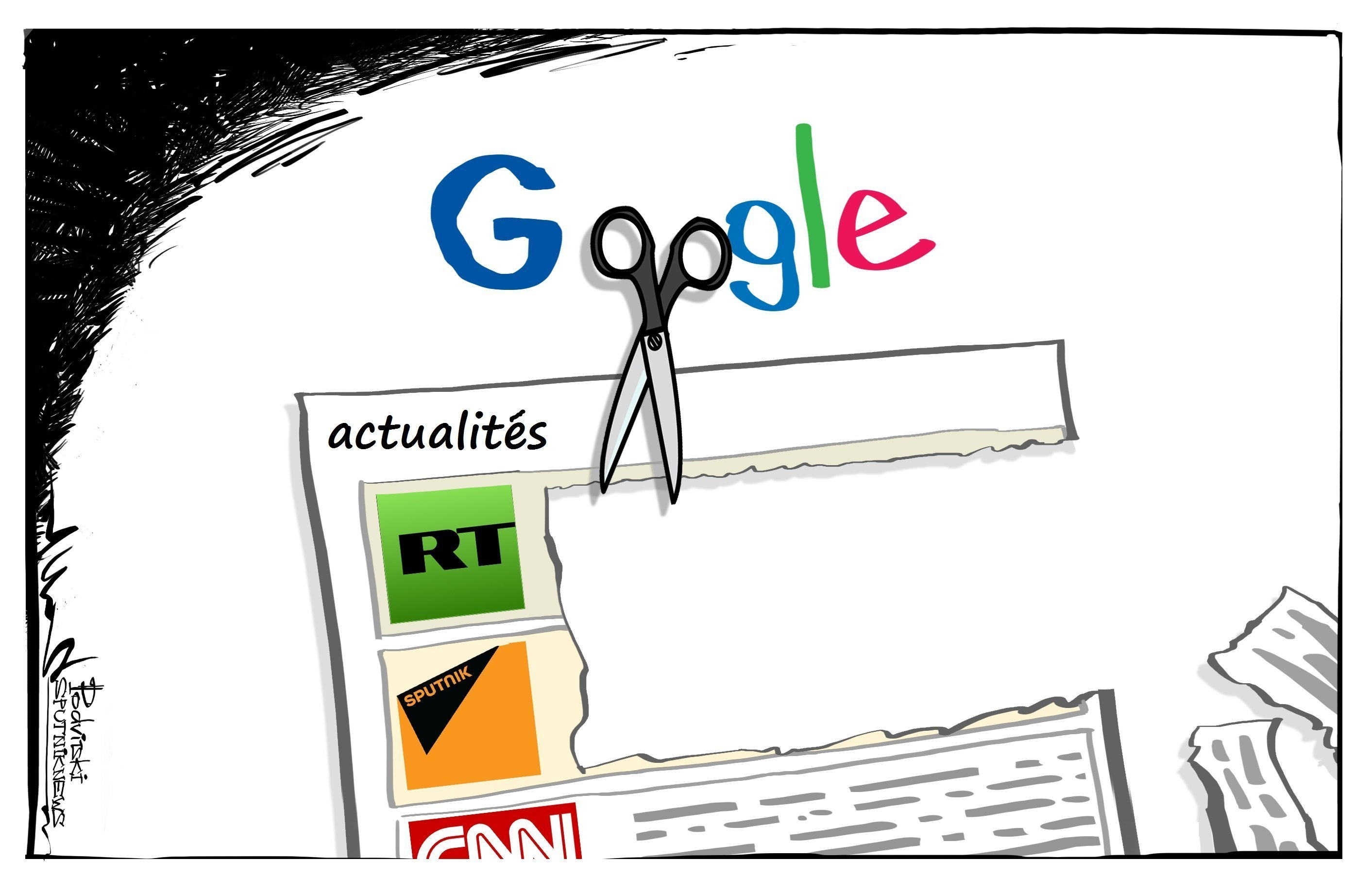 Google contre RT et Sputnik