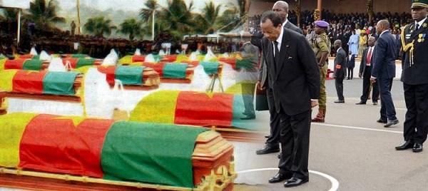 Paul Biya et les soldats camerounais tués